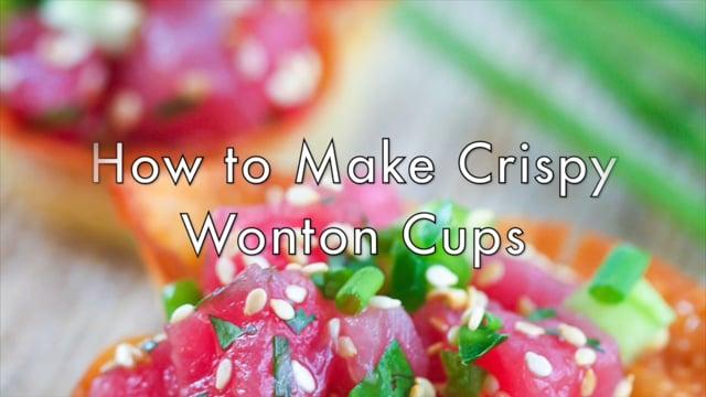 How to Make Crispy Wonton Cups
