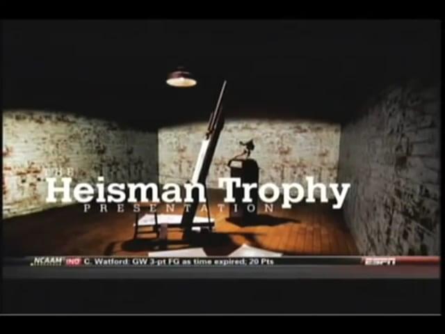 ESPN 2011 Heisman Teaser Commercial 12/28/11