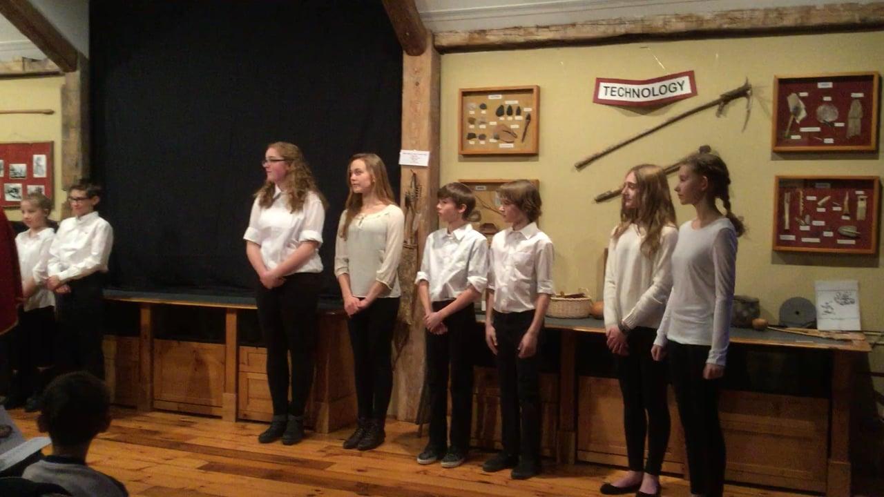 New Pond Farm 2016 Hamlet Act I Scene II Buster, Kira and Emma