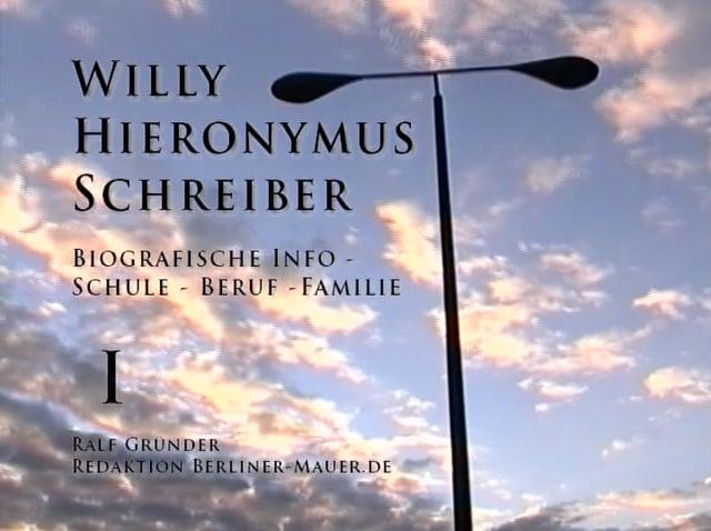 Willy Hieronymus Schreiber: Biografische Informationen zu Kindheit und Jugend in der DDR