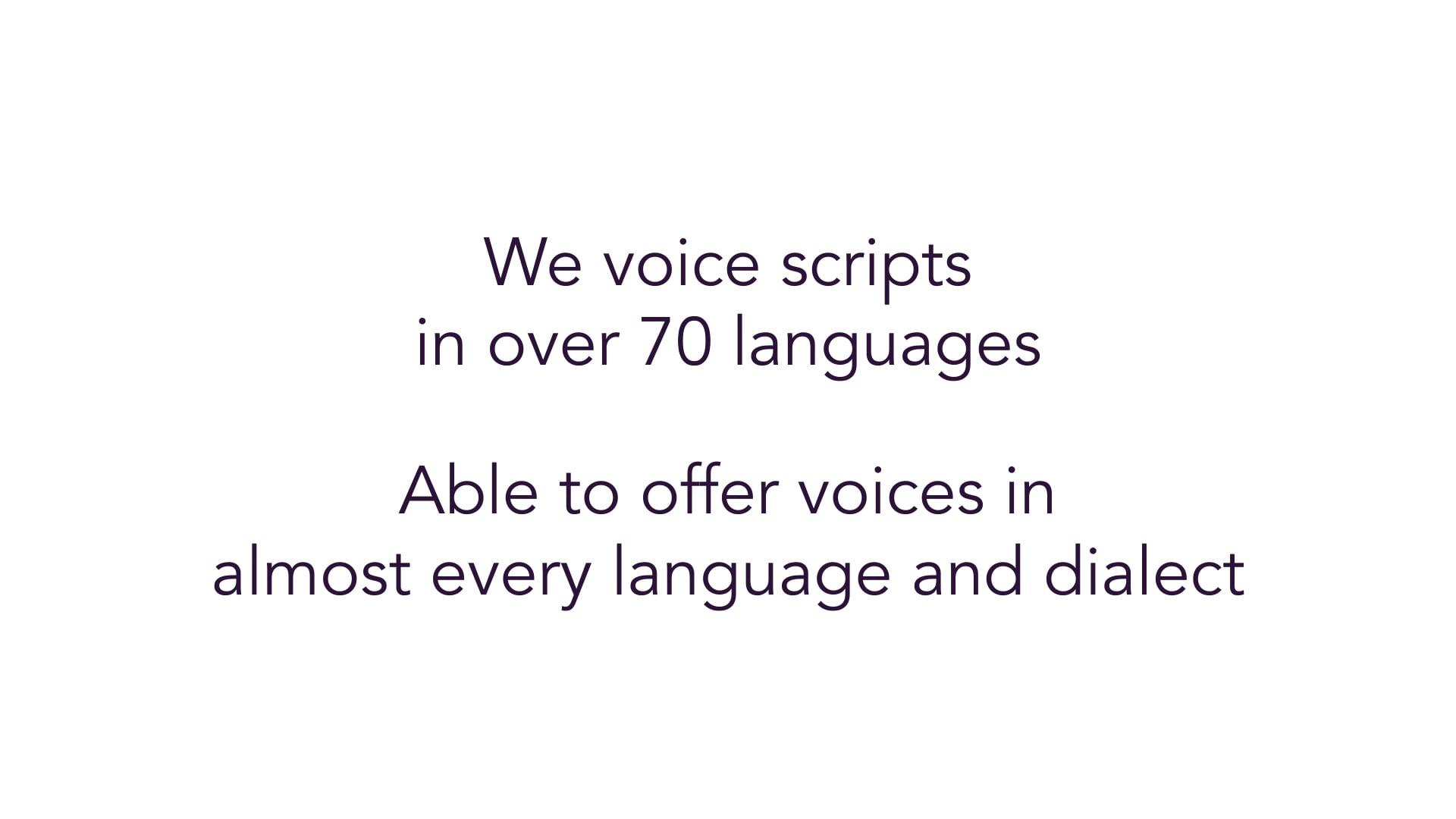 S2Blue Voices Showcase - Multi-lingual