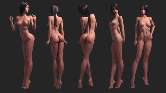 3d cartoon girl, female, sexy character