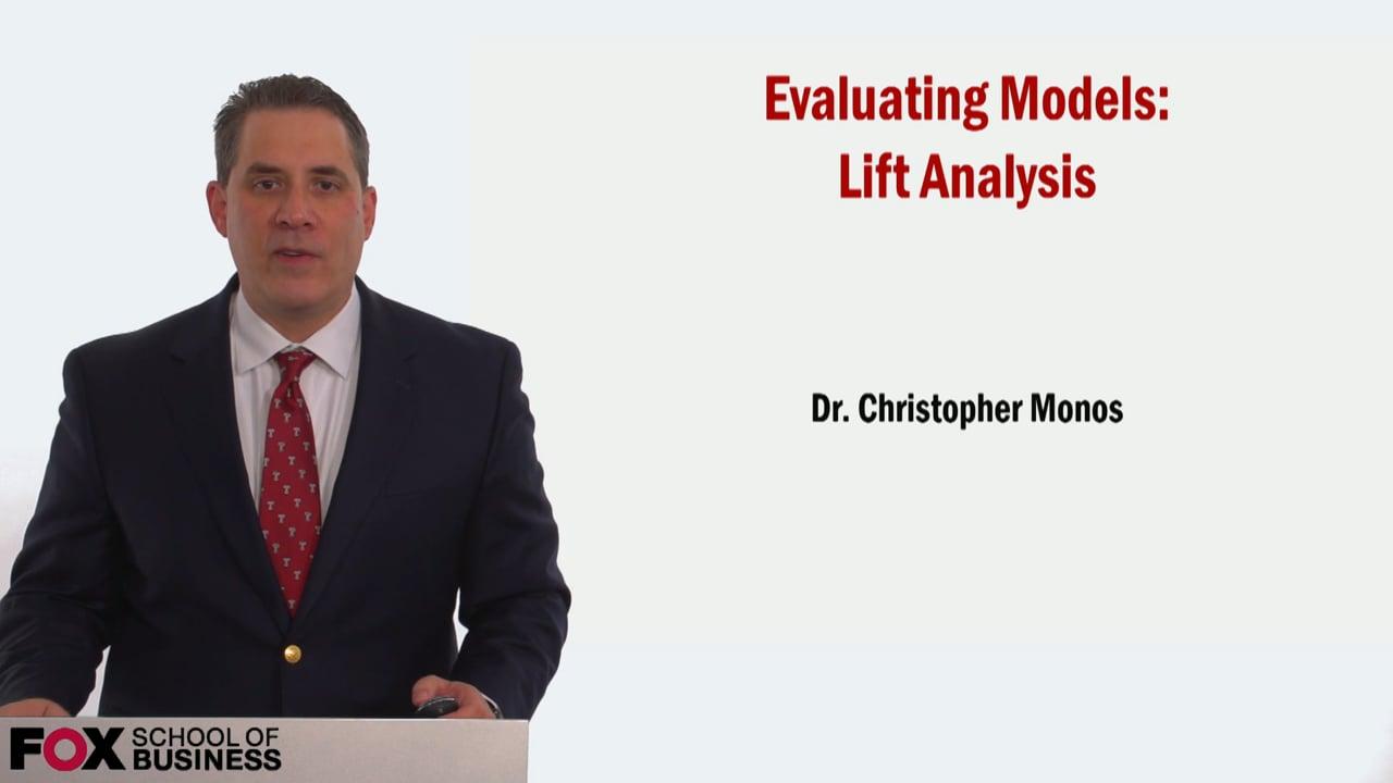 58999Evaluating Models – Lift Analysis