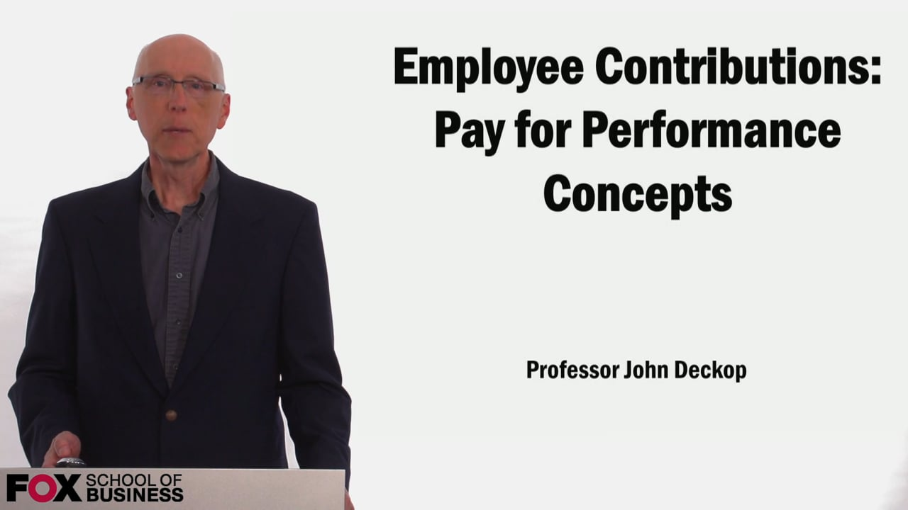 58903Employee Contributions Pay for Performance Concepts