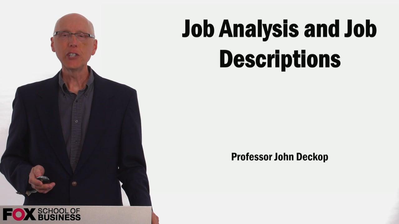 58897Job Analysis and Job Descriptions