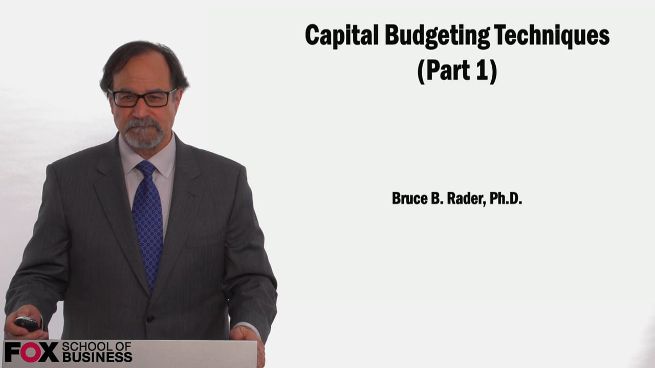 58973Capital Budgeting Techniques (Part 1)