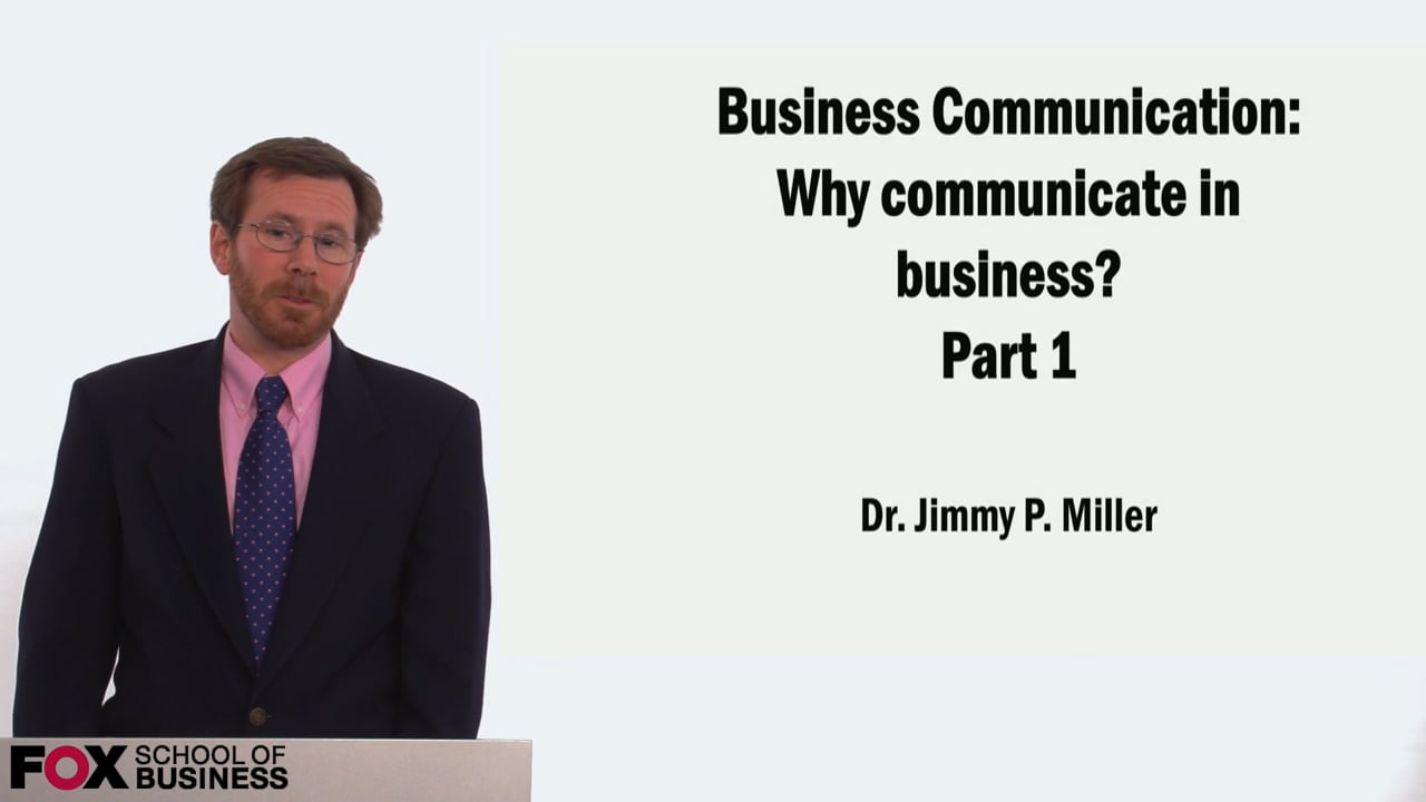 58935Why Communicate in Business? Part 1