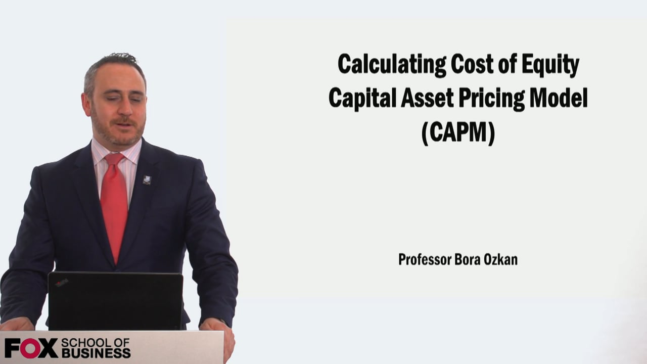 58917Calculating the Cost of Equity using Capital Asset Pricing Model