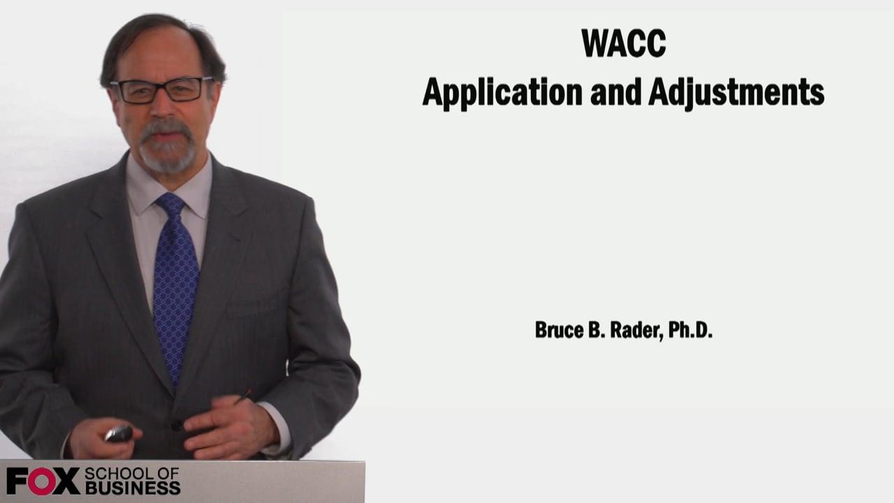 58970WACC Application and Adjustments