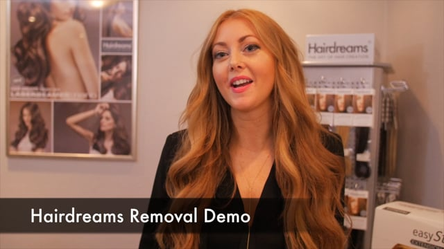 Hairdreams Removal Demo and Hair Application with Laserbeamer Nano