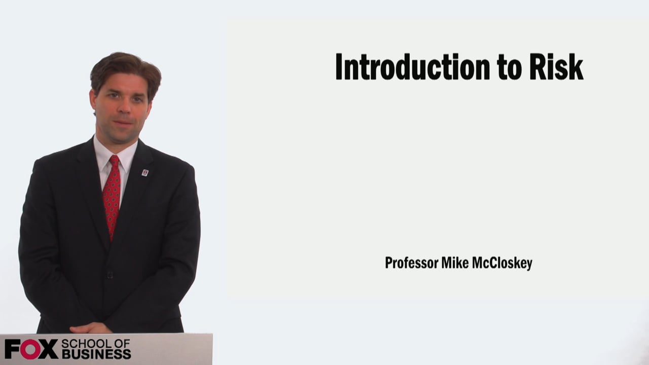 58892Introduction to Risk