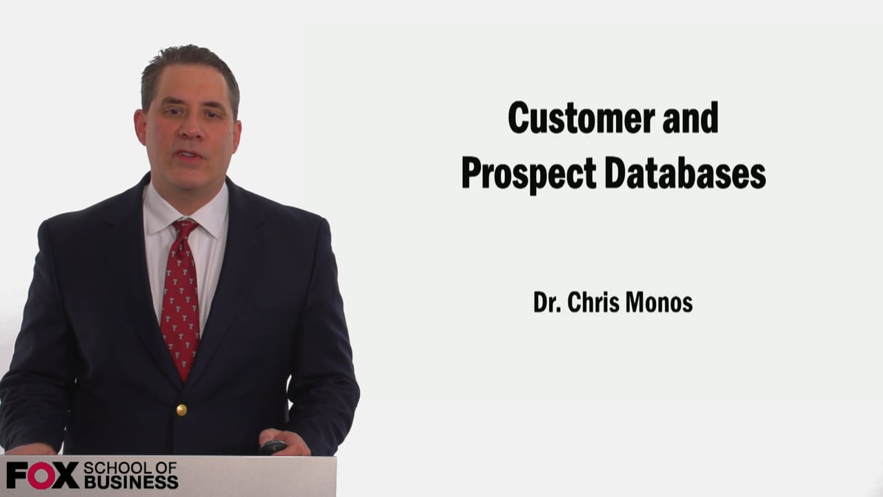 58989Customer and Prospect Databases