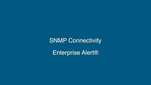 SNMP Connectivity