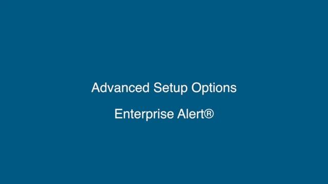 Advanced Setup Options