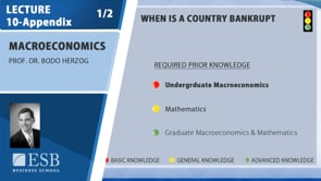 Macroeconomy Lecture 8: Bankrupt Countries