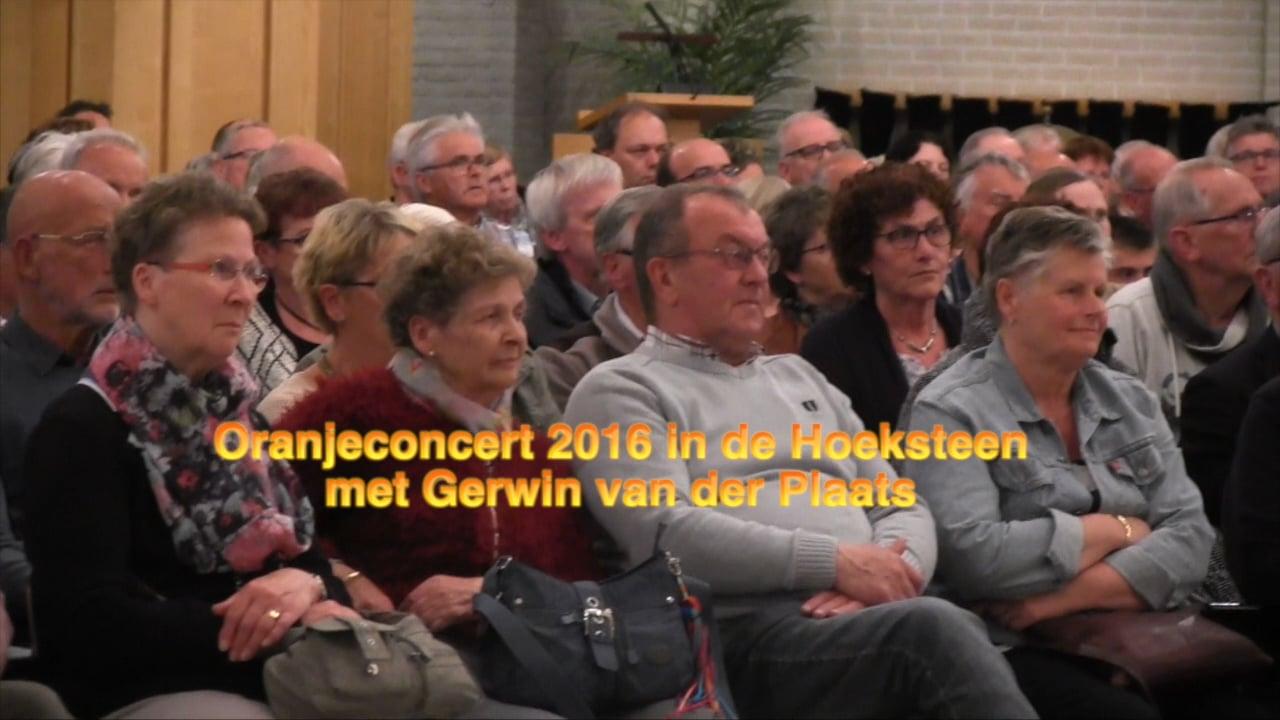 Oranjeconcert met Gerwin van der Plaats in de Hoeksteen