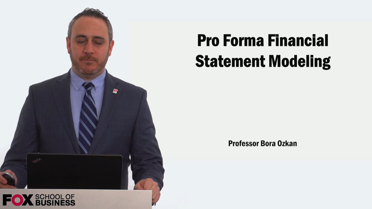 58919Pro Forma Financial Statement Modeling