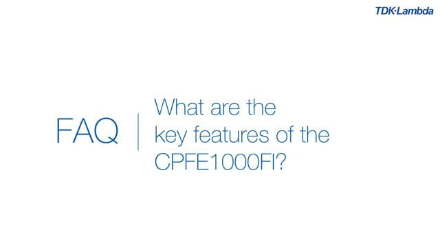 What are the key features of CPFE1000FI conduction cooled power supplies?