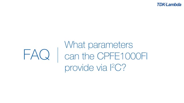 What parameters can CPFE1000Fi power supplies provide via I2C?