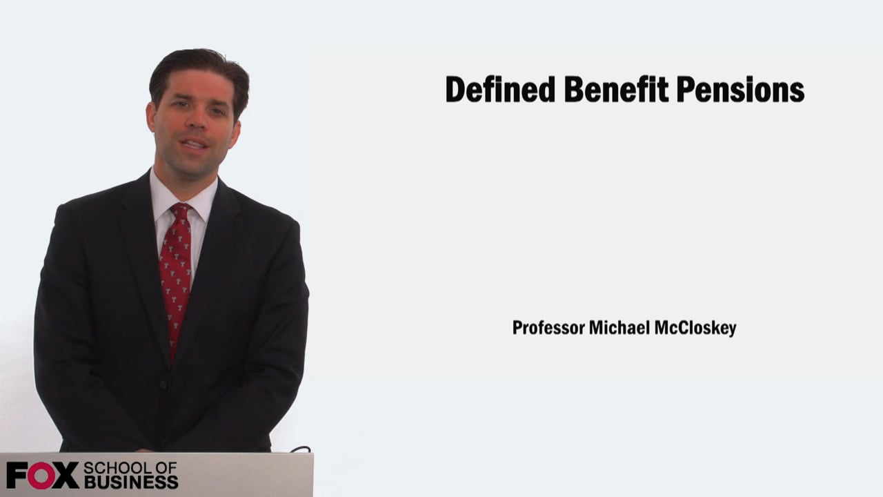 58911Defined Benefit Pensions