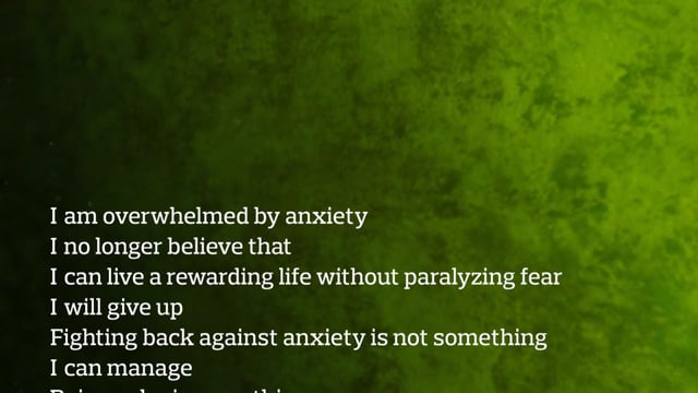 Anxiety palindrome