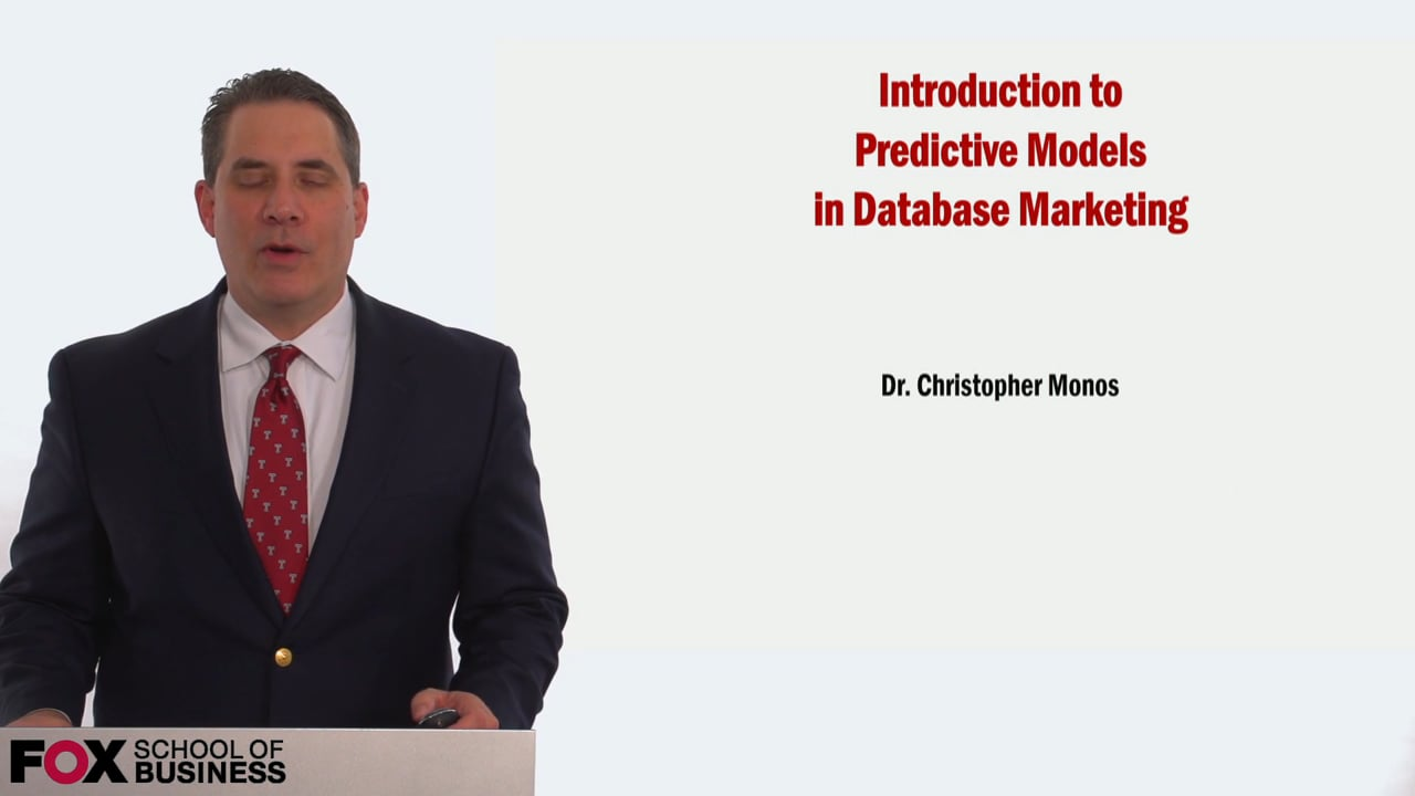 59023Introduction to Predictive Models in Database Marketing