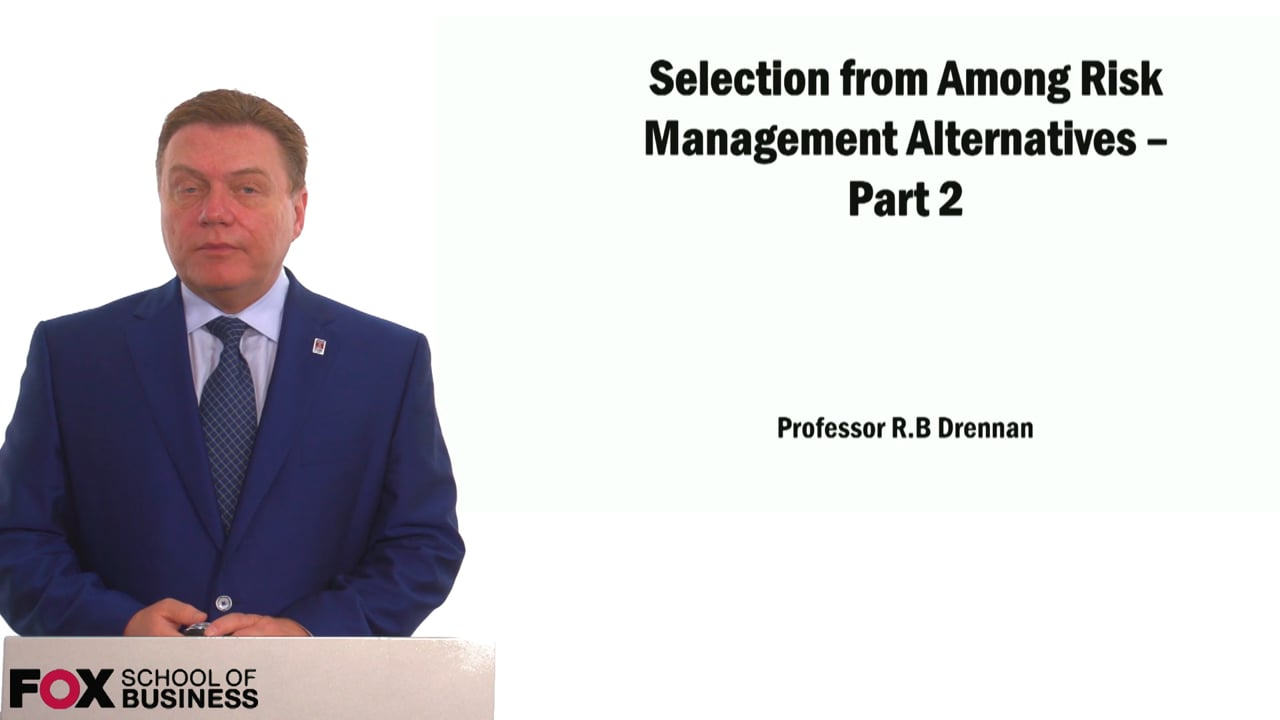 59022Selection from Among Risk Management Techniques Part 2