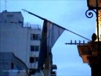 Paulo Nazareth,<em> Banderas Rotas #006</em>, 2012, video, 1'2