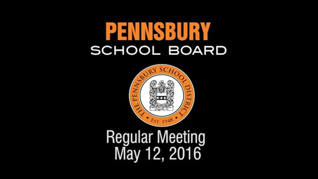 Pennsbury School Board Meeting for May 12, 2016