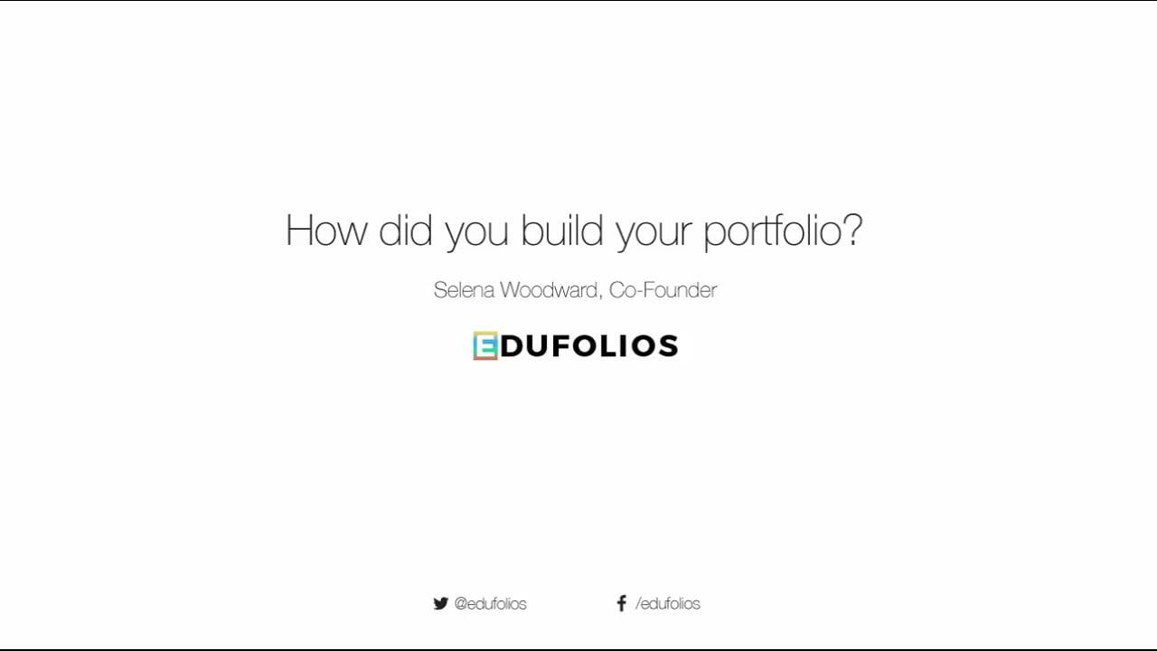 How Did You Build Your Portfolio?