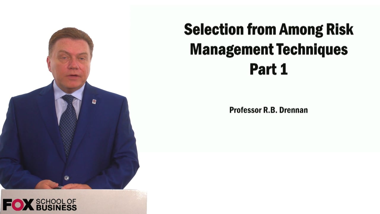 59021Selection from Among Risk Management Techniques Part 1