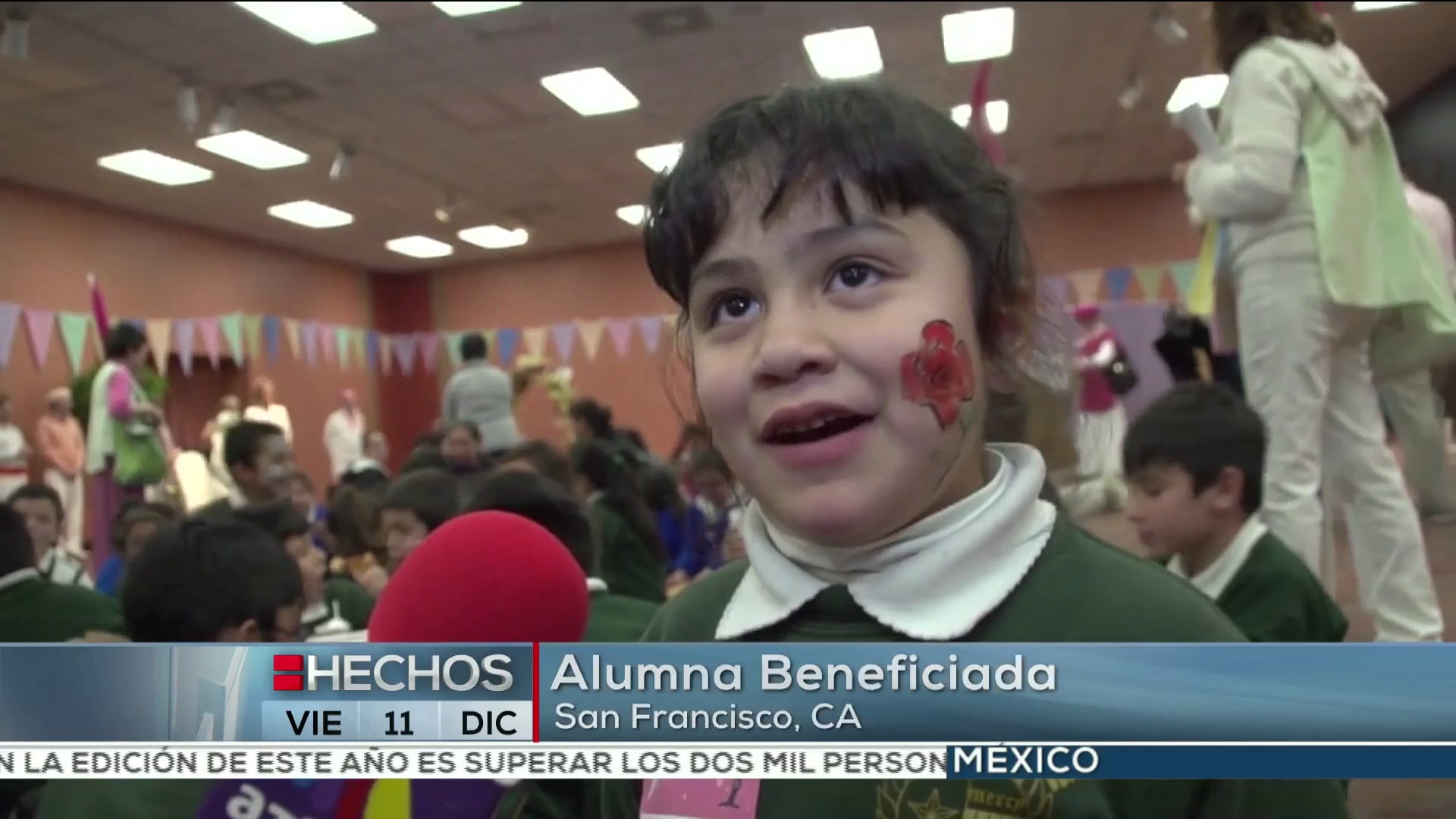 Azteca News Report Francis in the Schools S.F.  Dec 3, 2015