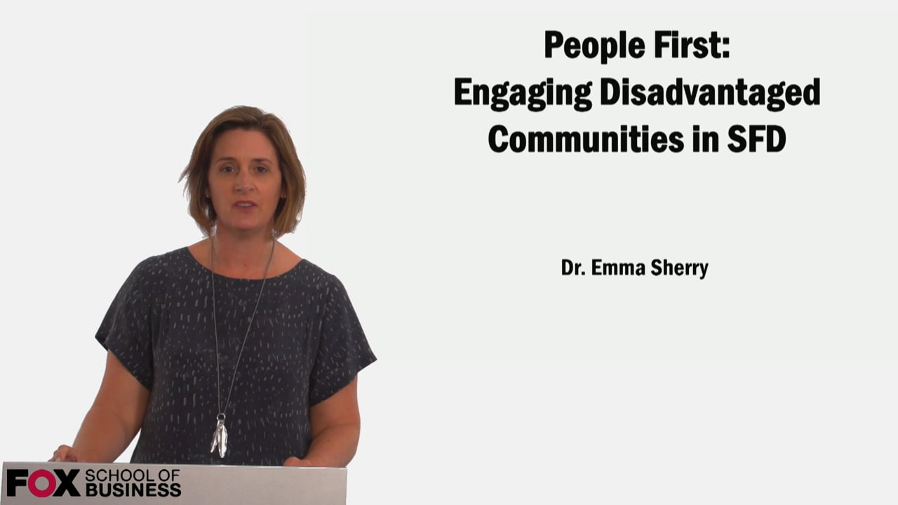 60592People First: Engaging Disadvantaged Communities in SFD