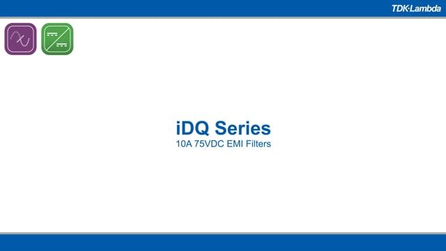 iDQ 10A 75VDC EMI Filters Video