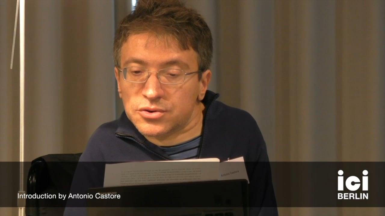 Introduction by Antonio Castore
