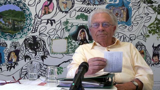 Manfred Omankowsky (III) spricht über seine Berichterstattung als Berliner Journalist der frühen Nachkriegszeit
