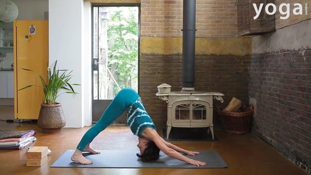 Hoofdstand met Iyengar yogaserie