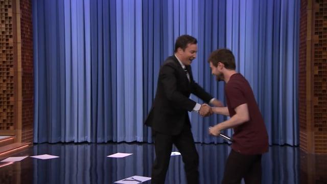 The Tonight Show Starring Jimmy Fallon: Daniel Radcliffe Raps Alphabet Aerobics thumbnail