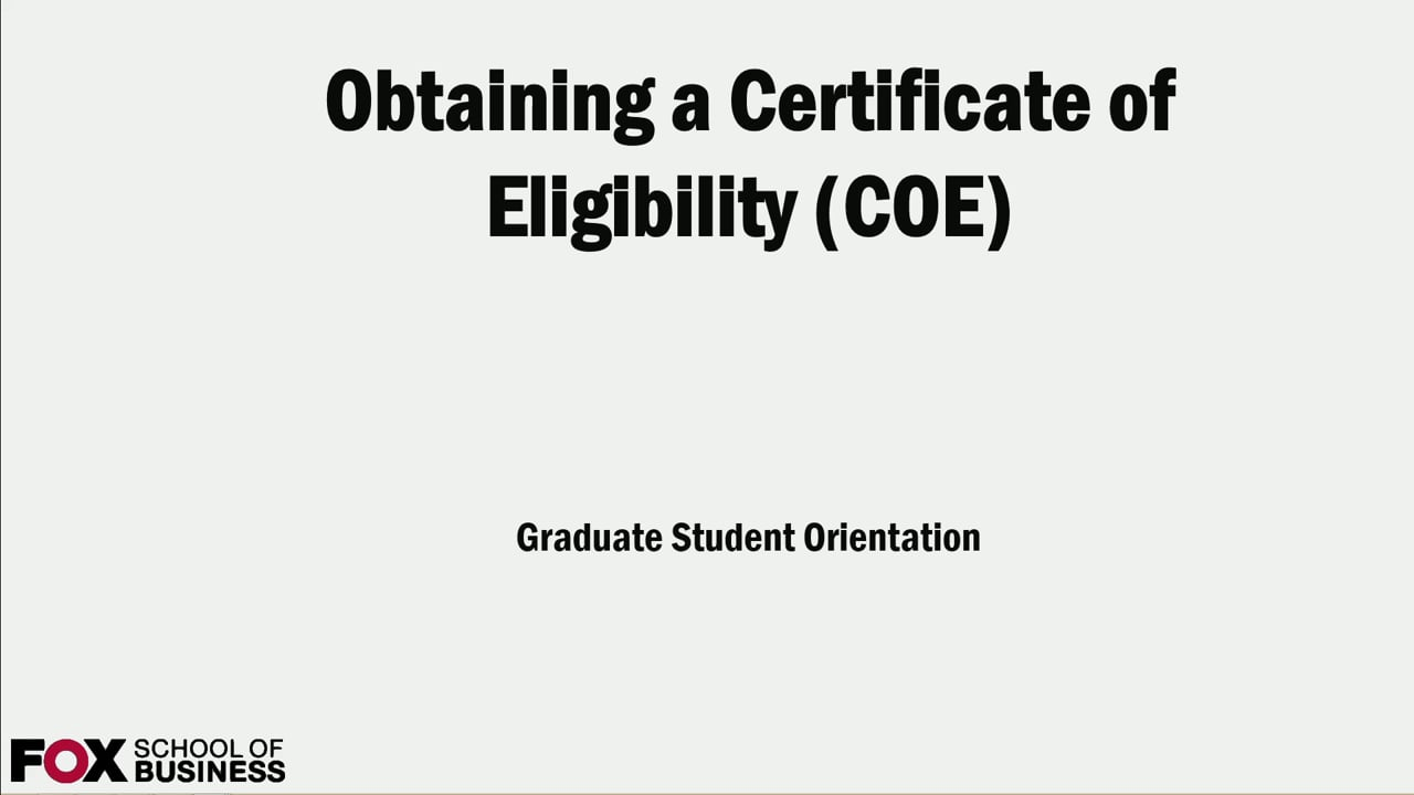 59037I20- International Students and How to Obtain a Certificate of Eligibility