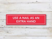 Use a Nail as an Extra Hand