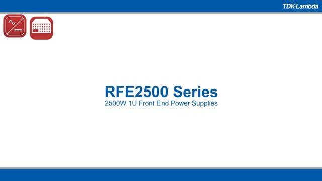 RFE2500 1U 2500W AC-DC Power Supplies Video