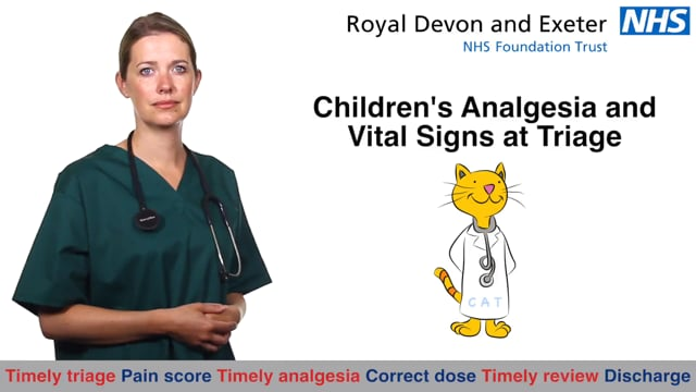 3076 Children's Analgesia and Vital Signs at Triage