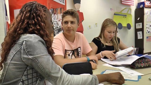 Classe inversée en cours d'anglais.