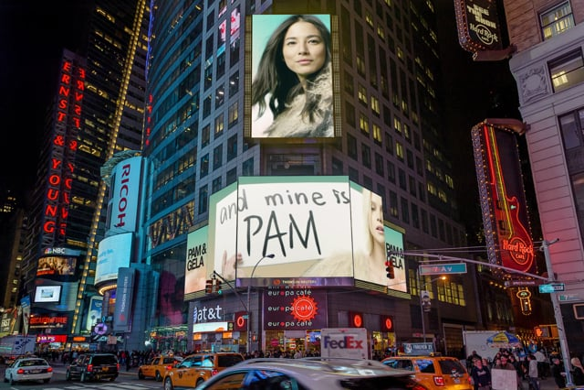 PAM & GELA: TIMES SQUARE BILLBOARD CAMPAIGN