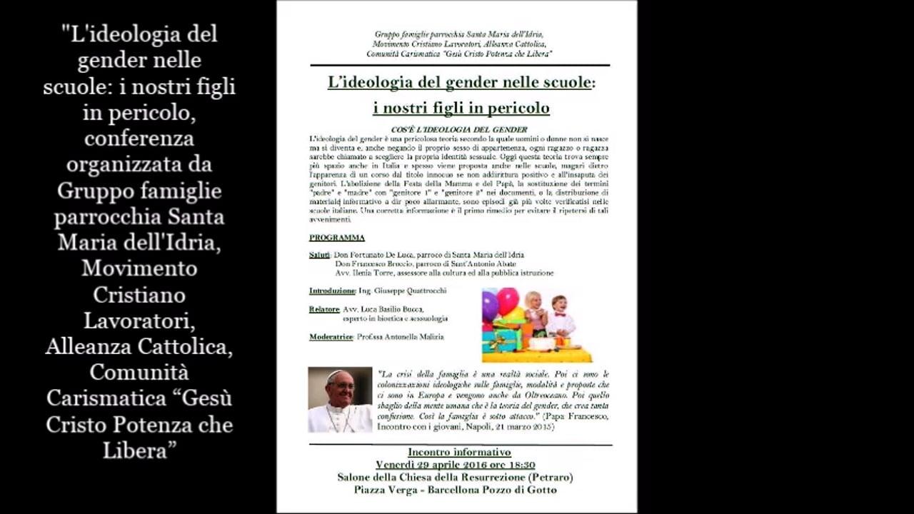 L'ideologia gender nella scuole - Luca Basilio Bucca