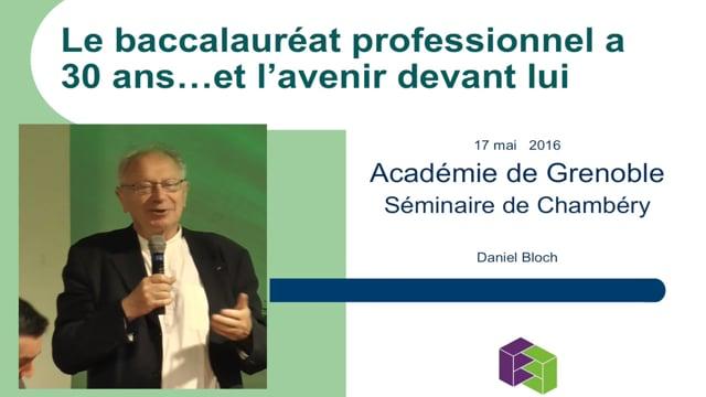 Conférence de Daniel Bloch