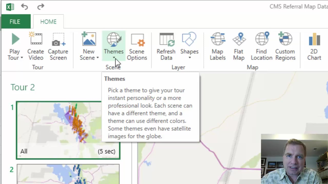Excel Video 516 Videos and Themes in 3D Maps