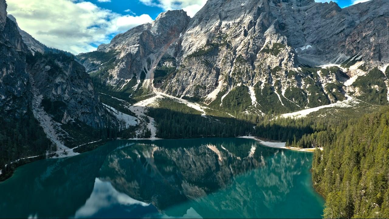 Lago di Braies dal Drone 4K