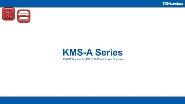 KMS-A 15-60W Medical AC-DC PCB-Mount Power Supplies Video