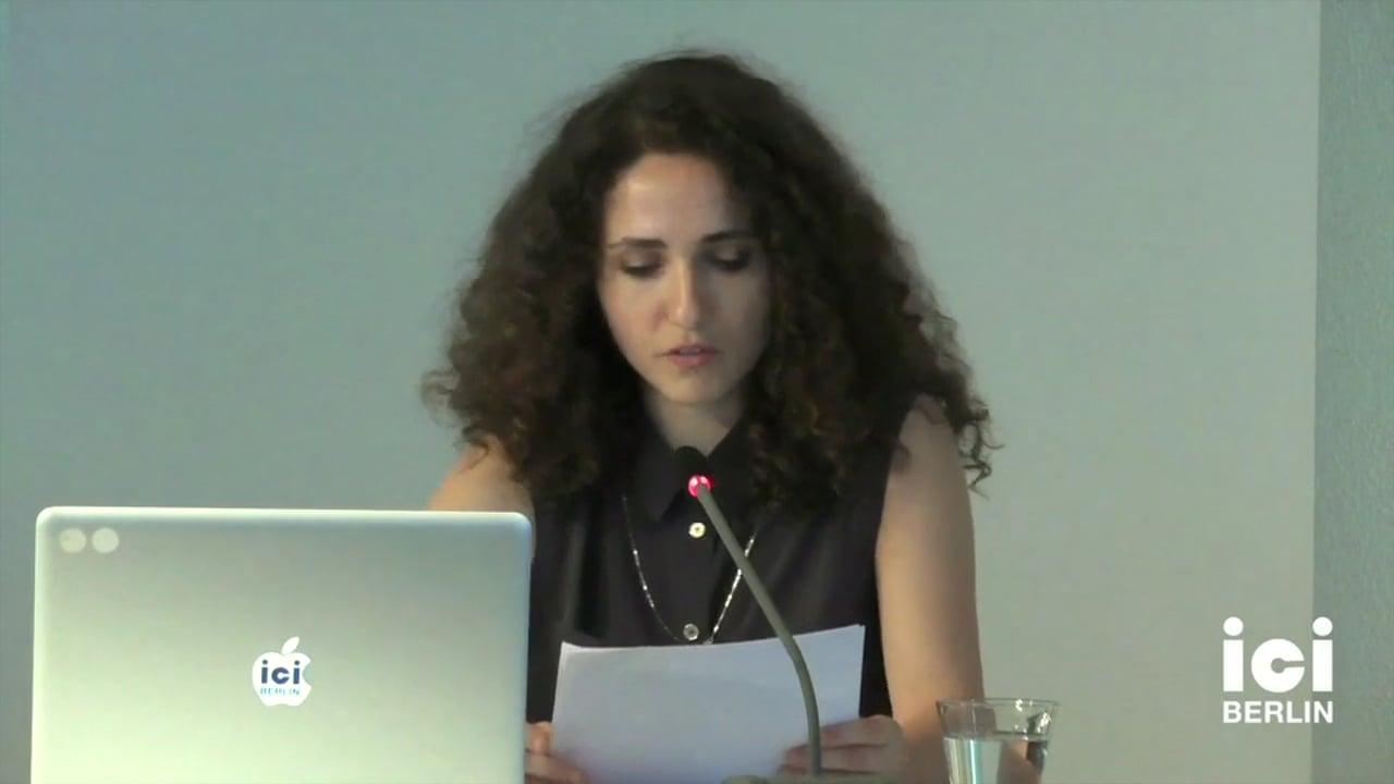 Talk by Rosa Barotsi